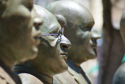 I think that's Desmond Tutu.  There are statues of famous South Africans around the waterfront - I recognized Nelson Mandela and Mr. Tutu.  I like to say Tutu.