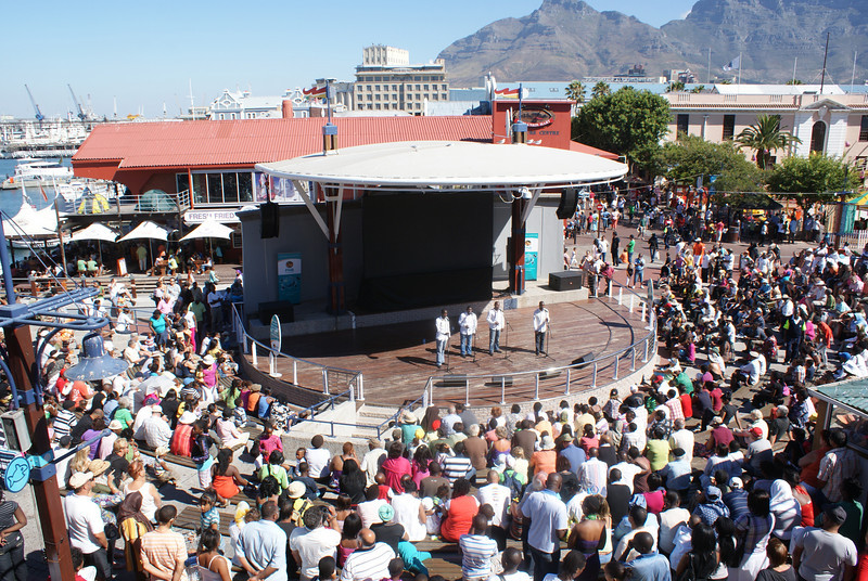 Cape Town Waterfont.  They had free ongoing concerts the entire week.