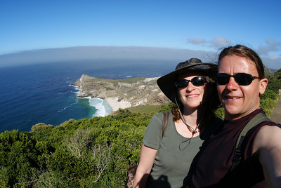 That's the Cape of Good Hope in the background.