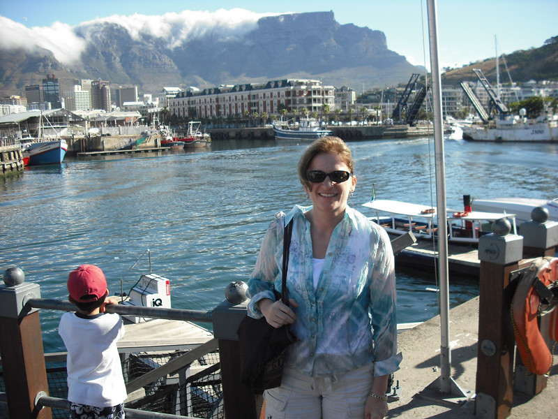 The Attache arrived in Cape Town a few days before me for some business.  Here she is at the Cape Town Waterfront.