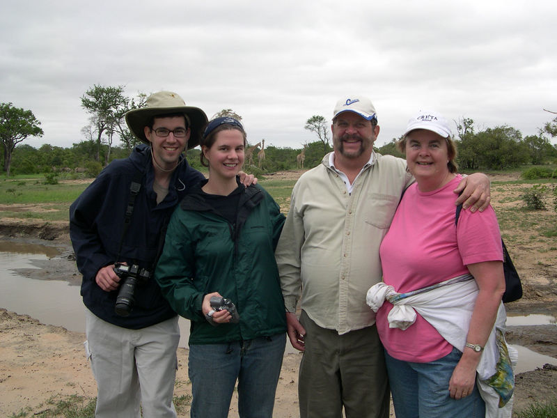 Jim, Liz, Dick and Susan in the African veld.