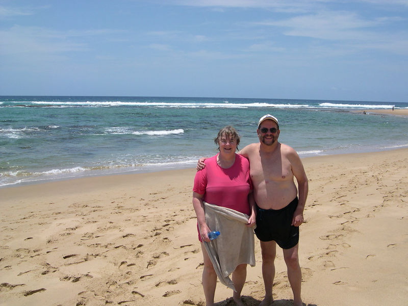 Dick and Susan at the snorkling beach.