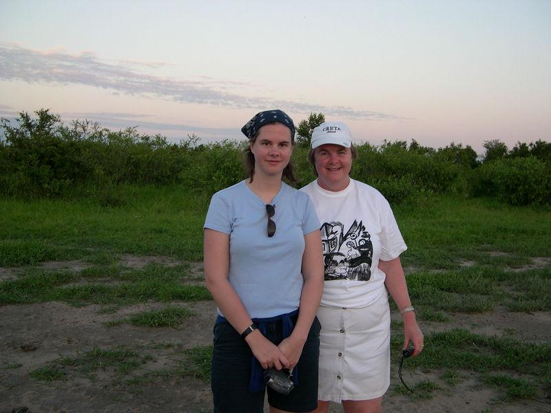 Liz and Susan at sunset.