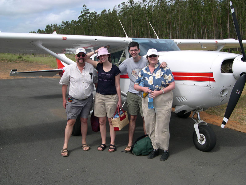 Dick, Liz, Jim and Susan at the landing strip at Rocktail Bay, delighted we arrived safely.  We arranged for a driver later in the week for the five hour trip to Durbin, rather than trying to fly out of Rocktail Bay.