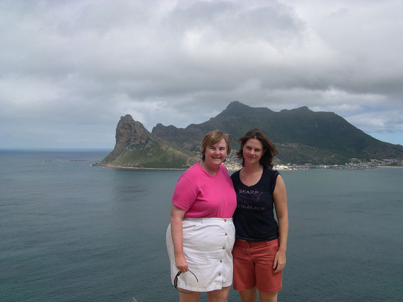 Susan and Liz at Hout Bay.