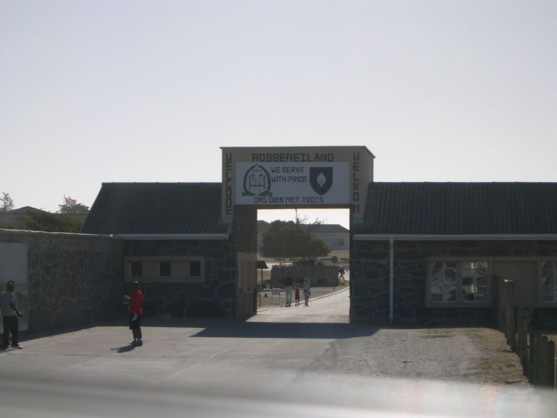 Entrance to Robben Island, where Nelson Mandela was imprisoned for 27 years during apartheid times.