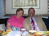 Dick and Susan at Christmas Eve dinner.