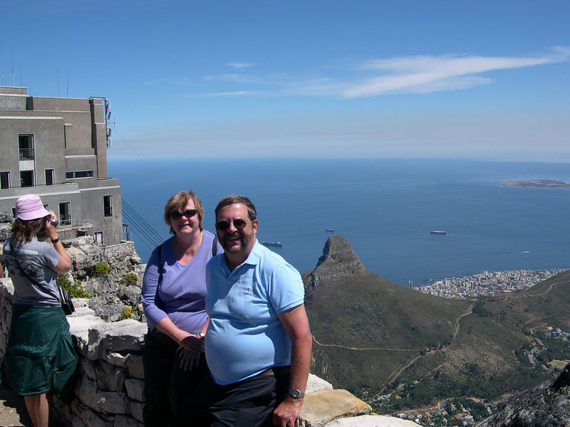 Dick and Susan on Table Mountain.