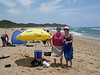 Susan and Liz after snorkling in the Indian Ocean.  The next day, Liz and Dick went swimming with dolphins during an off-shore snorkling trip.