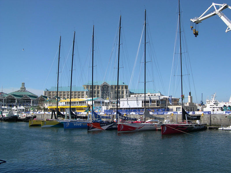 The fleet of boats for the Volvo Round the World race, which were in port while we were there.