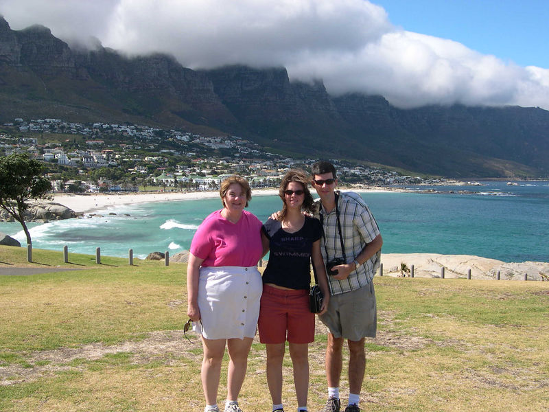 Susan, Liz and Jim at Camps Bay on the drive south along the Cape peninsula.