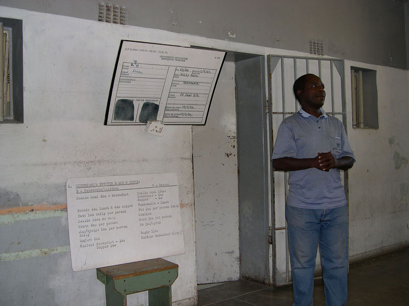 A former political prisoner, who was our guide in the prison on Robben Island.