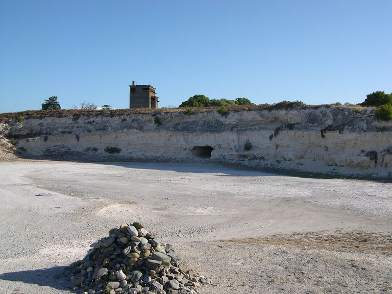 The lime quarry, where the political prisoners of the African National Congress were made to work during their sentence on Robben Island.