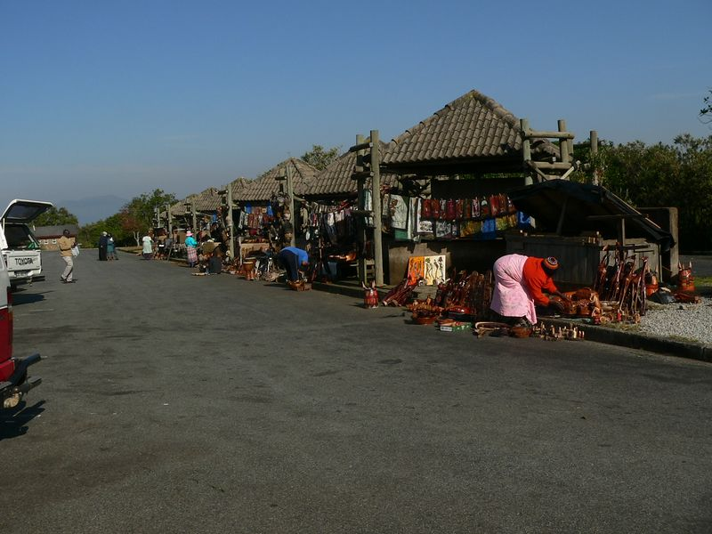 The locals were ready for tourists to come purchase some of their wares.