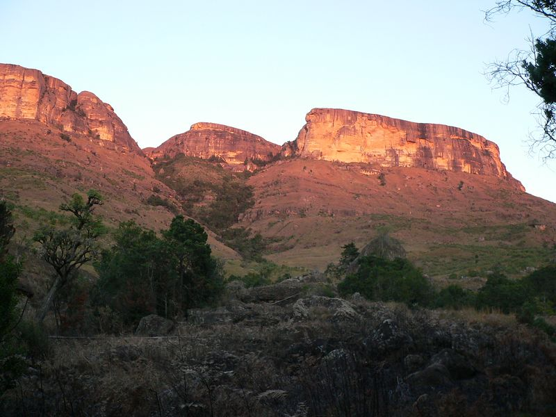 Our last night was spent camping in the Drakensburg area of the Free State Province. These mountains border Lesotho.