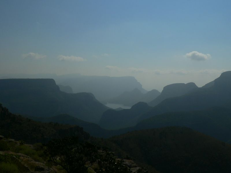 The river valley was beautiful, but extremely hazy. It was very hard to photograph.