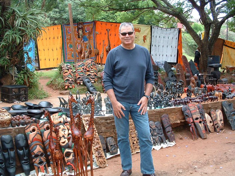 Joe at a local market in Pilgrim's Rest - on our way to Krueger National Park from Johannesburg (or Jo'burg as the locals call it).