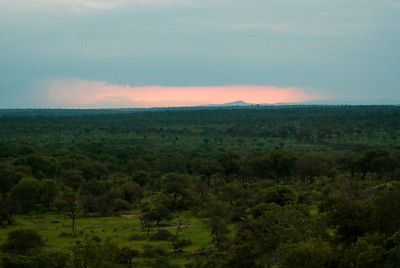 Storm approaching near sunset, Londolozi.