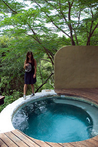 Plunge pool on our deck in the Varty Camp at Londolozi