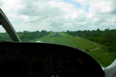 Landing at Londolozi.