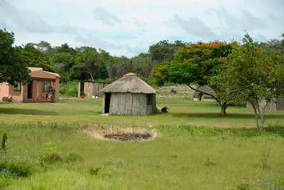 Traditional Zulu home near Hluhluwe South Africa.