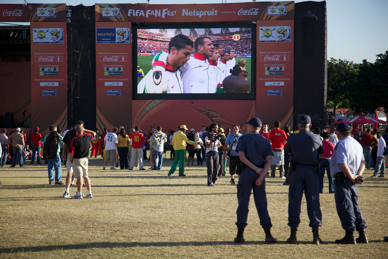 Nelspruit - Each host city had a Fan park where everyone could watch the games.