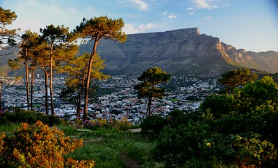 Table Mountain. Cape Town, South Africa. View from Signal Hill ……………….[ Copyright © - Photo by Barry Jucha ]