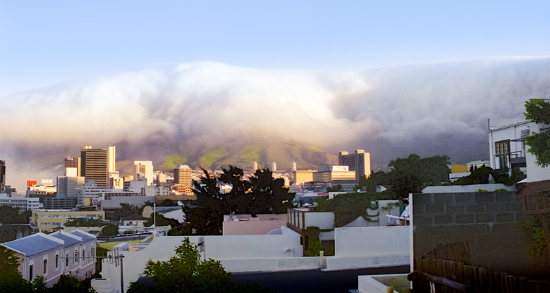 Table Mountain Covered By Orographic Clouds