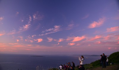 Sunset on Signal Hill ……………….[ Copyright © - Photo by Barry Jucha ]