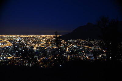 Cape Town city Lights. South Africa……………….[ Copyright © - Photo by Barry Jucha ]