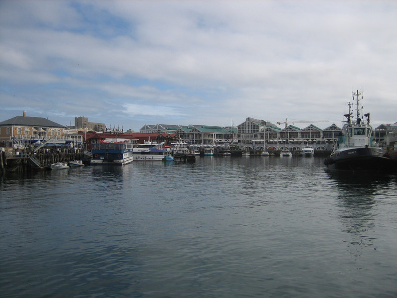 Leaving Cape Town for Robben Island...