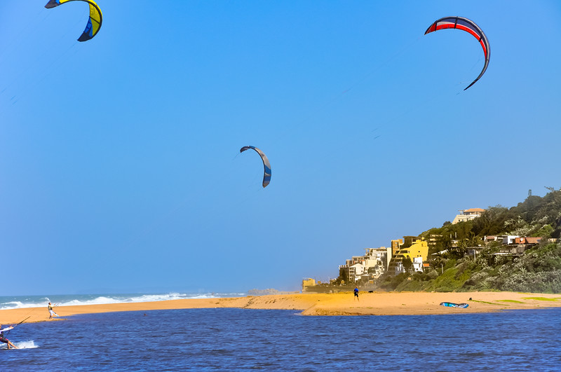 Kiteboarding at La Mercy