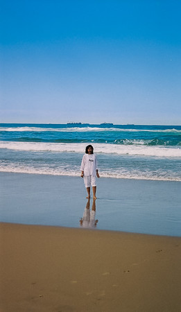 Geeta at South Beach, Durban