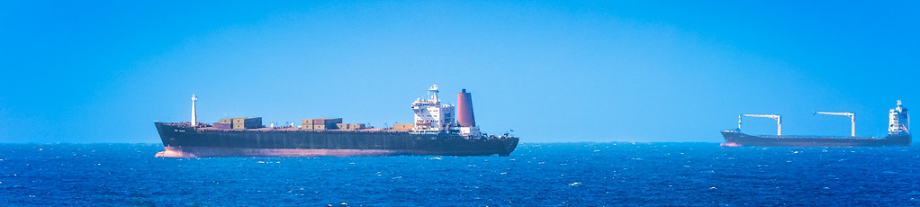 Cargo Ships seen from Umhlanga
