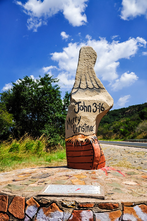 Old Joe - Painted Rock Statue 2009