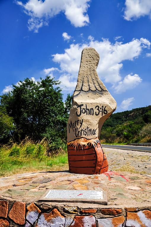 Old Joe - Painted Rock Statue