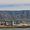 Cape Town seen from the ocean on the way to Robben Island