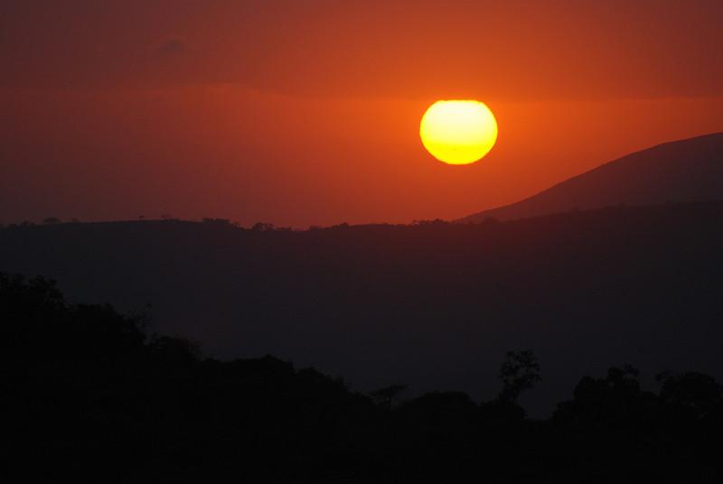 Sunrise at Hluhluwe-Imfolozi Game Reserve