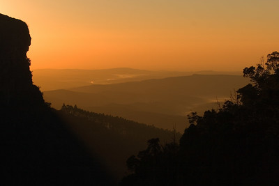 Sunrise at Graskop Gorge, view from Panorama Ruskamp