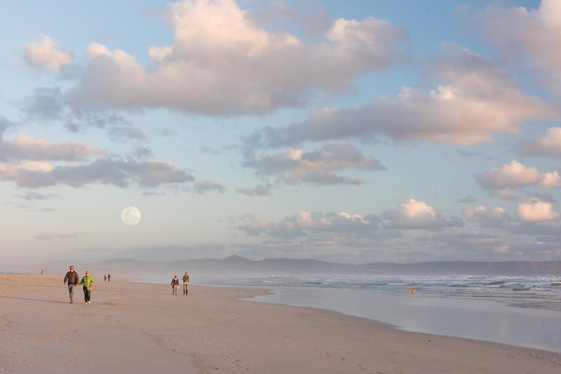 Walker Bay with full moon rising