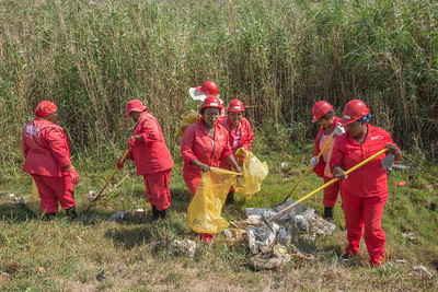 Clean-up crew on Chatty River, Soweto On Sea, Port Elizabeth