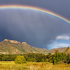 Rainbow and clearing storm over Moolmanshoek, Free State