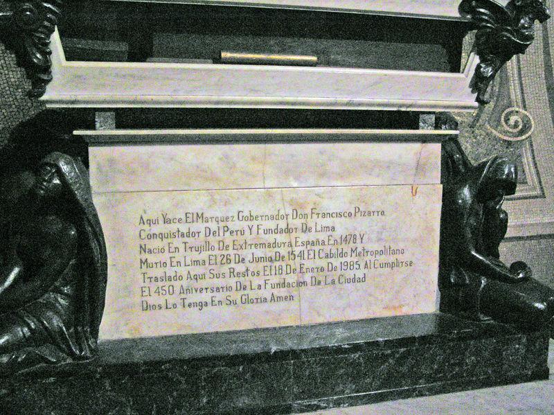 Tomb of the Spanish explorer Piezzro