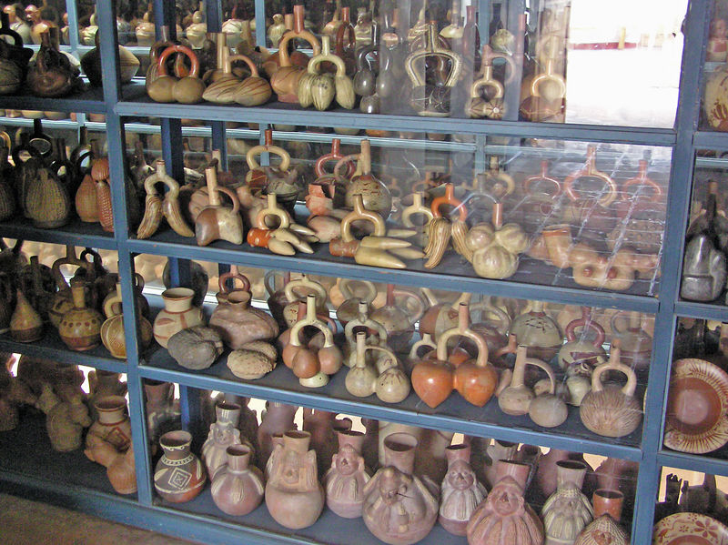 Wharehouse of ancient pottery,one of several in the country