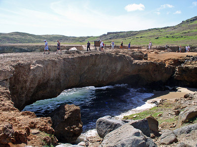Good Natural bridge formed by tidal action.