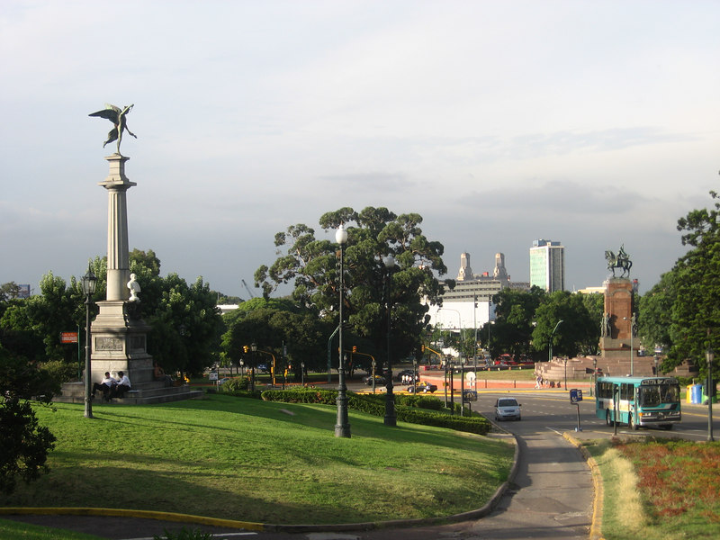 View from a beautiful park in Recoleta.