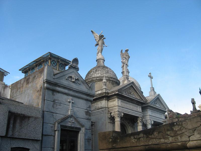 Tombs at La Recoleta Cemetery.