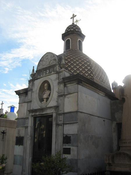 Funerary art at La Recoleta Cemetery.
