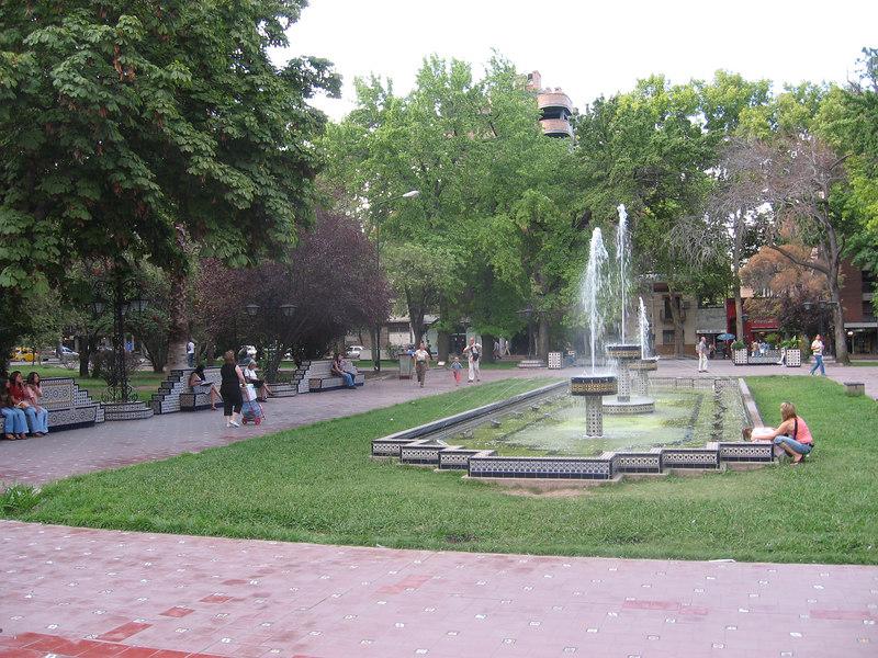 View of Plaza de España in Mendoza.