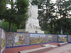 Tile murals depicting history of Argentina and Mendoza at the city's Plaza de España.